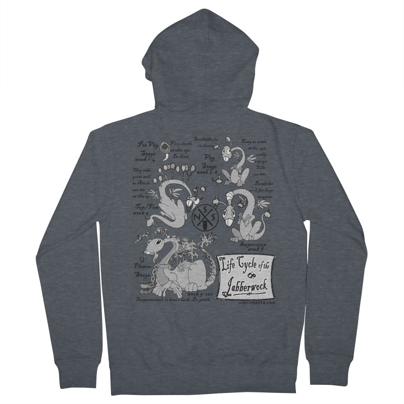 Life Cycle of the Jabberwock Men's Zip-Up Hoody by MostlySAFE Webcomic Shwag