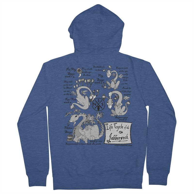 Life Cycle of the Jabberwock Men's French Terry Zip-Up Hoody by MostlySAFE Webcomic Shwag