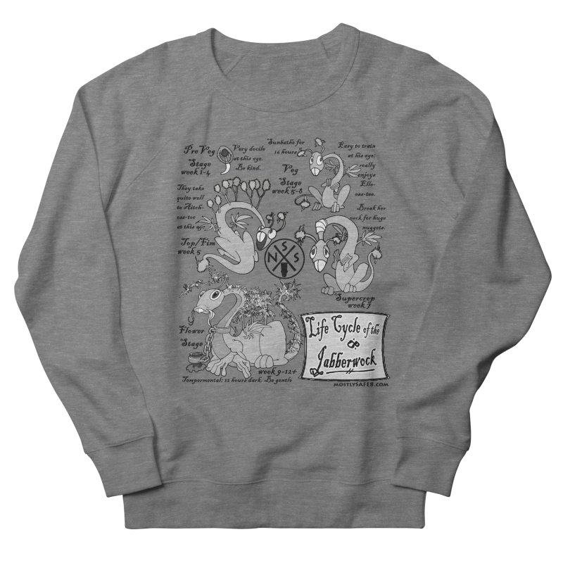 Life Cycle of the Jabberwock Men's French Terry Sweatshirt by MostlySAFE Webcomic Shwag