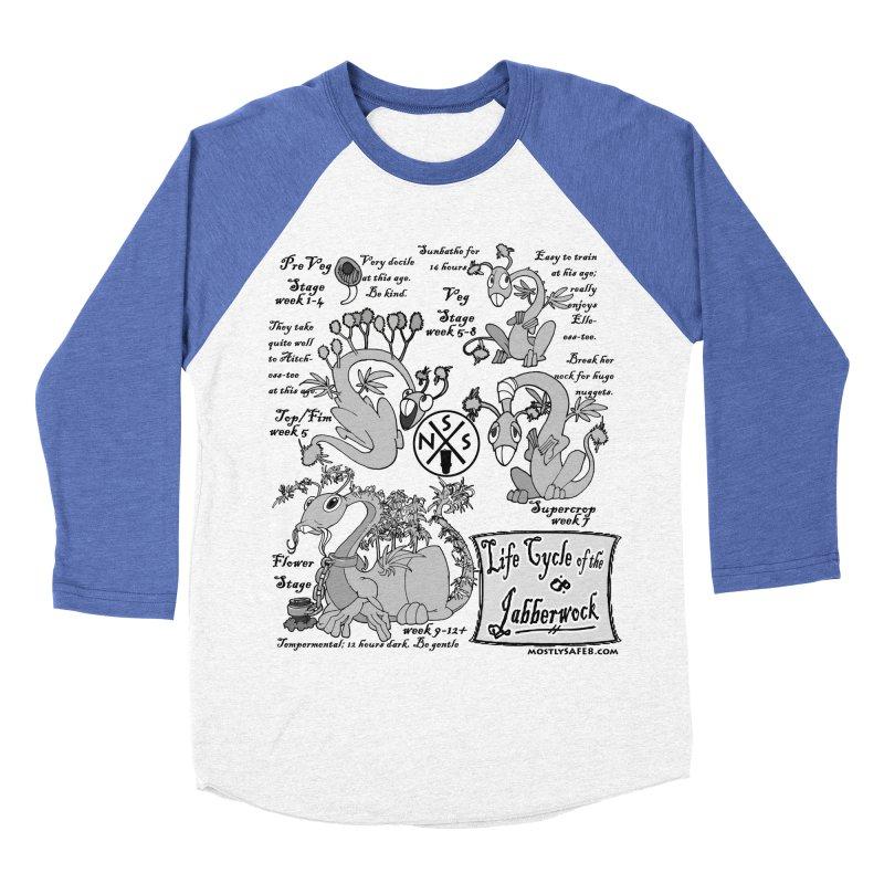 Life Cycle of the Jabberwock Men's Baseball Triblend Longsleeve T-Shirt by MostlySAFE Webcomic Shwag