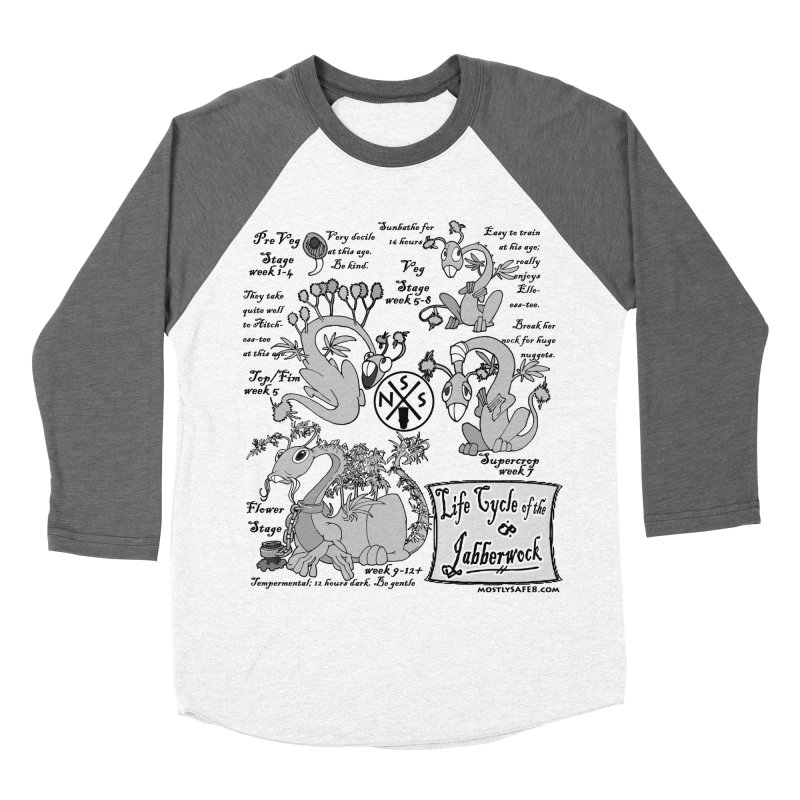 Life Cycle of the Jabberwock Men's Baseball Triblend Longsleeve T-Shirt by MostlySAFE Webcomic Shwag