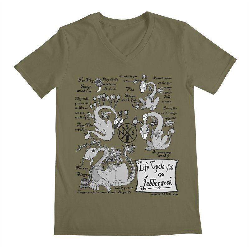 Life Cycle of the Jabberwock Men's V-Neck by MostlySAFE Webcomic Shwag