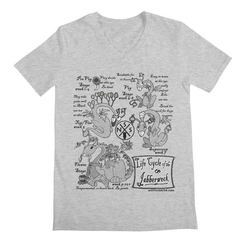 Life Cycle of the Jabberwock Men's V-Neck by MostlySAFE Webcomic Shwag