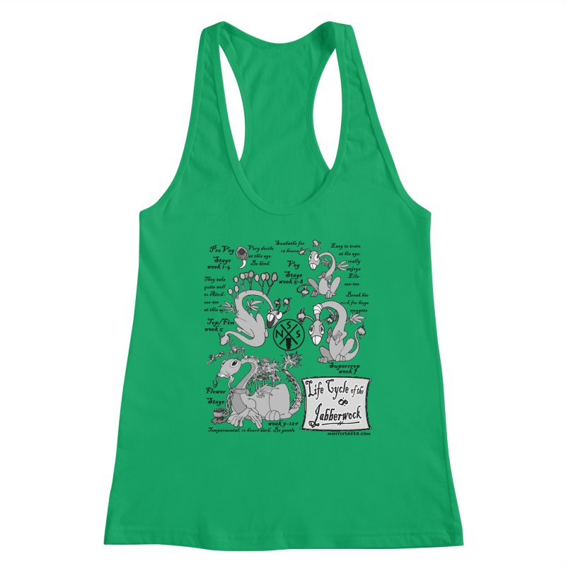 Life Cycle of the Jabberwock Women's Tank by MostlySAFE Webcomic Shwag