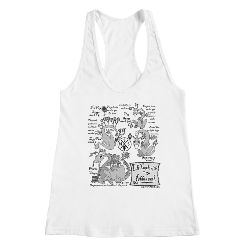 Life Cycle of the Jabberwock Women's Racerback Tank by MostlySAFE Webcomic Shwag