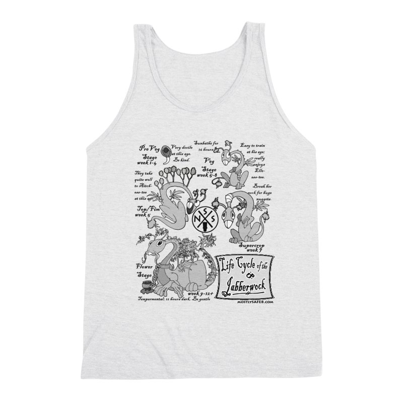 Life Cycle of the Jabberwock Men's Triblend Tank by MostlySAFE Webcomic Shwag