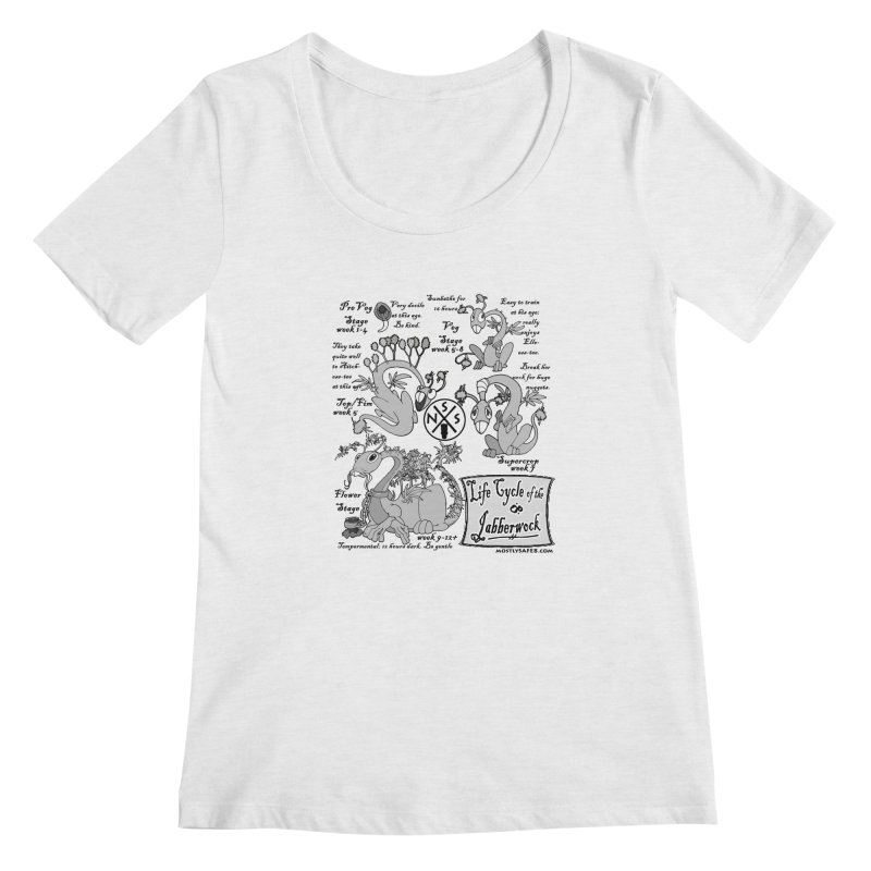 Life Cycle of the Jabberwock Women's Regular Scoop Neck by MostlySAFE Webcomic Shwag