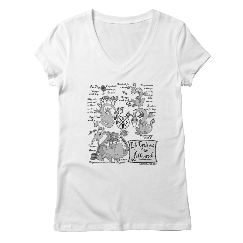 Life Cycle of the Jabberwock Women's Regular V-Neck by MostlySAFE Webcomic Shwag