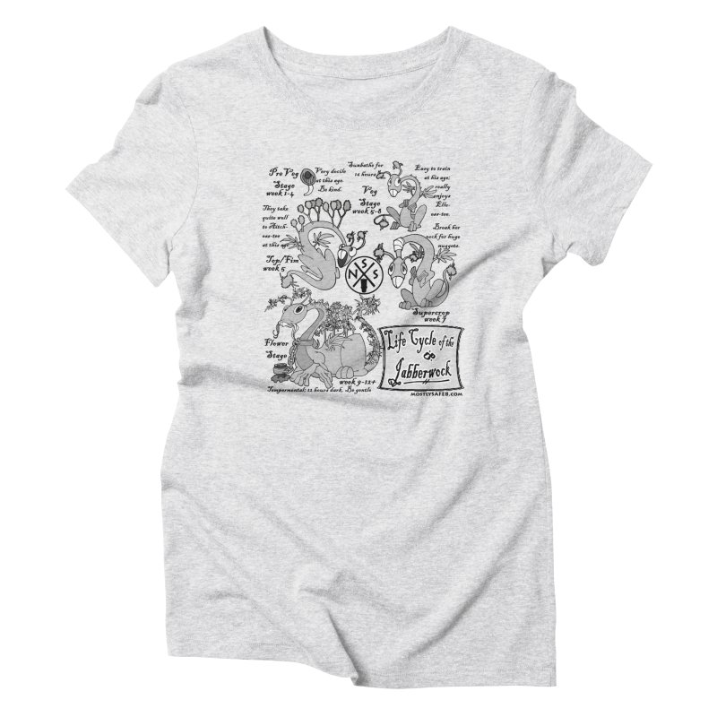Life Cycle of the Jabberwock Women's Triblend T-Shirt by MostlySAFE Webcomic Shwag