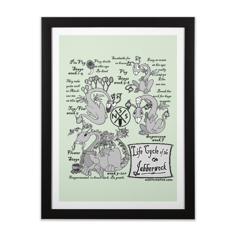 Life Cycle of the Jabberwock Home Framed Fine Art Print by MostlySAFE Webcomic Shwag