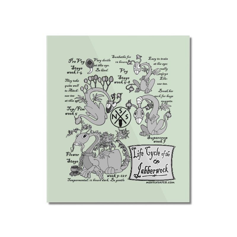 Life Cycle of the Jabberwock Home Mounted Acrylic Print by MostlySAFE Webcomic Shwag