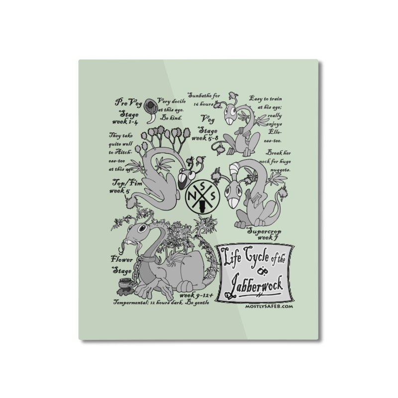 Life Cycle of the Jabberwock Home Mounted Aluminum Print by MostlySAFE Webcomic Shwag