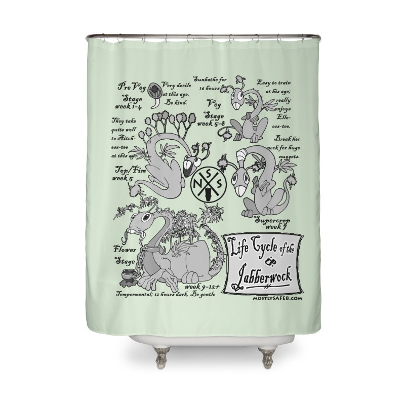 Life Cycle of the Jabberwock Home Shower Curtain by MostlySAFE Webcomic Shwag