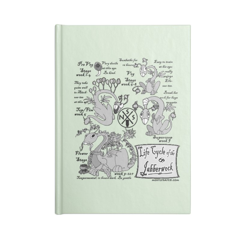 Life Cycle of the Jabberwock Accessories Lined Journal Notebook by MostlySAFE Webcomic Shwag