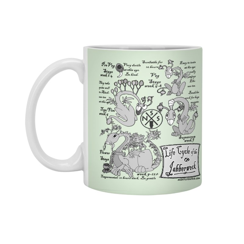 Life Cycle of the Jabberwock Accessories Standard Mug by MostlySAFE Webcomic Shwag