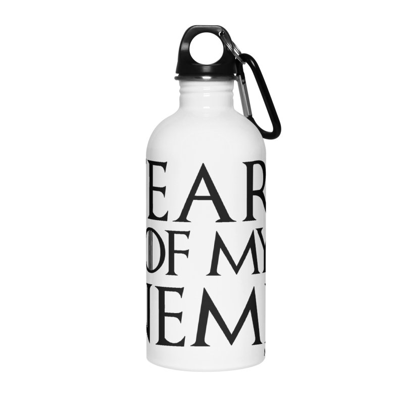 Tears of my Enemies - Black Text Accessories Water Bottle by MostlySAFE Webcomic Shwag