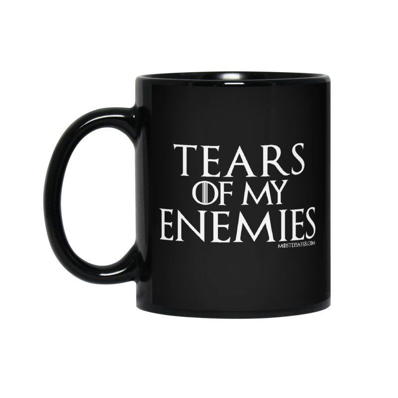 Tears of my Enemies - White Script Accessories Standard Mug by MostlySAFE Webcomic Shwag