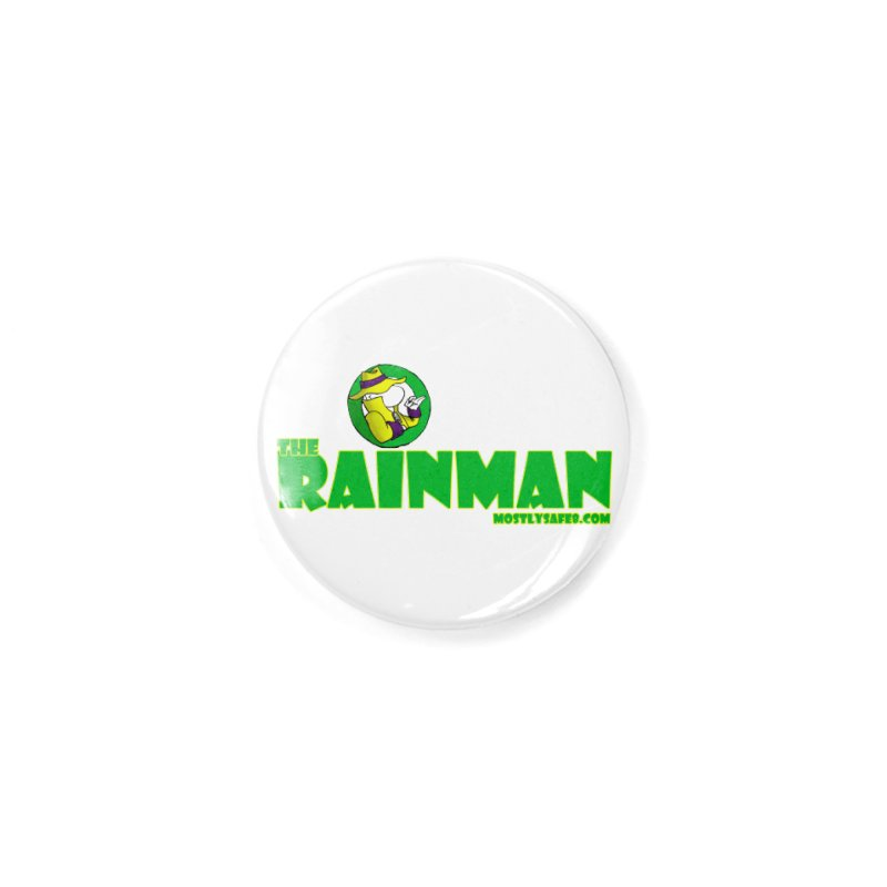 The RainMan Space Bucket Logo Accessories Button by MostlySAFE Webcomic Shwag