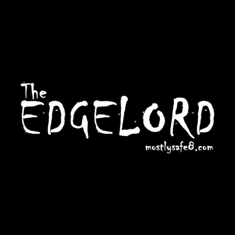 The EDGELORD Space Bucket Logo Accessories Sticker by MostlySAFE Webcomic Shwag