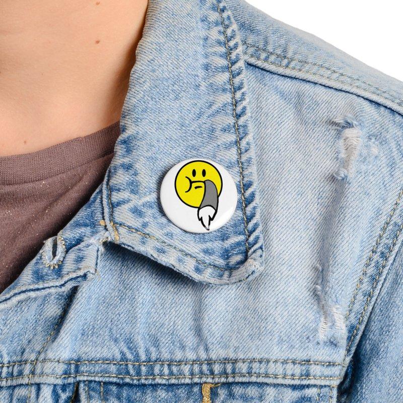 Mustache Ride Emoji Accessories Button by MostlySAFE Webcomic Shwag