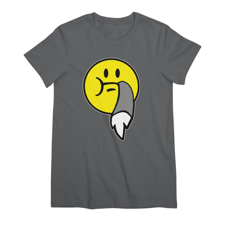 Mustache Ride Emoji Women's T-Shirt by MostlySAFE Webcomic Shwag