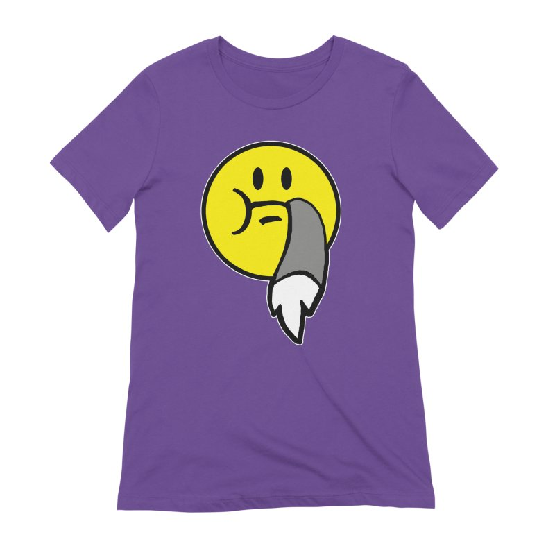 Mustache Ride Emoji Women's T-Shirt by MostlySAFE Webcomic Shwag