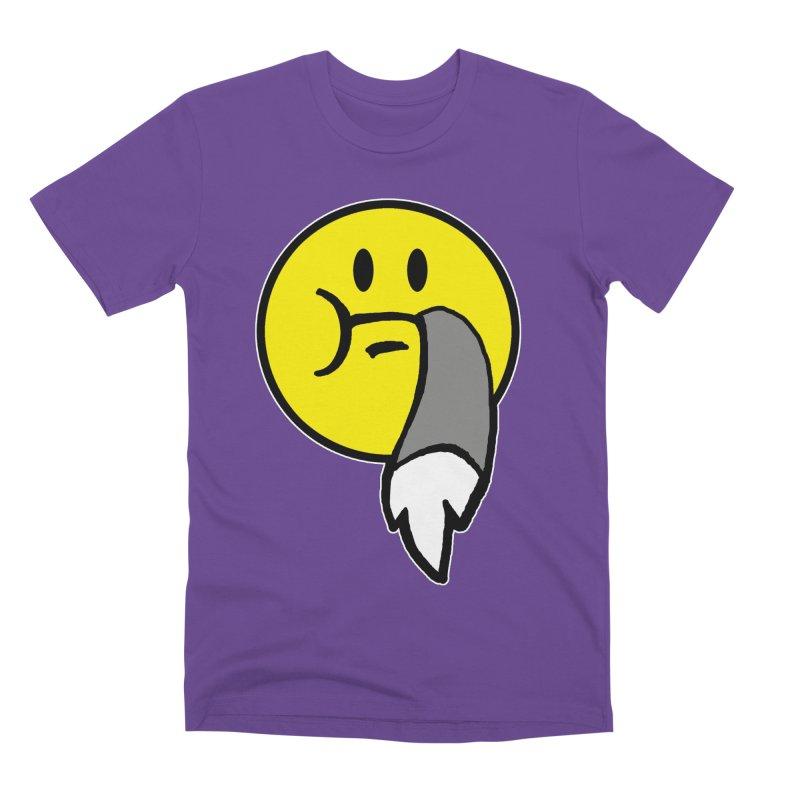Mustache Ride Emoji Men's T-Shirt by MostlySAFE Webcomic Shwag