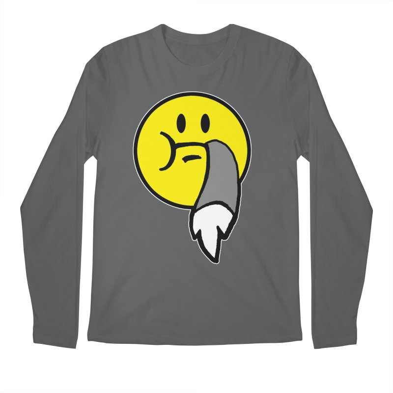 Mustache Ride Emoji Men's Longsleeve T-Shirt by MostlySAFE Webcomic Shwag