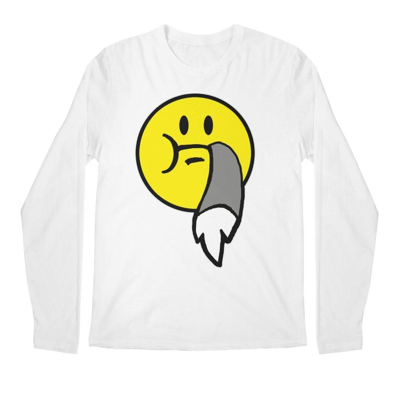 Mustache Ride Emoji Men's Longsleeve T-Shirt by MostlySAFE Webcomic Shwag