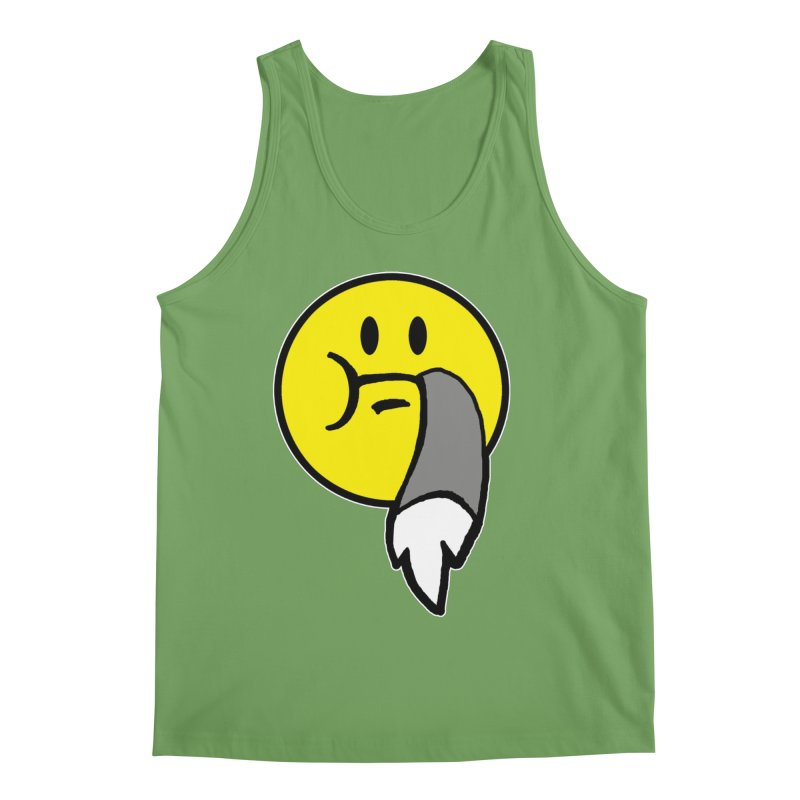 Mustache Ride Emoji Men's Tank by MostlySAFE Webcomic Shwag