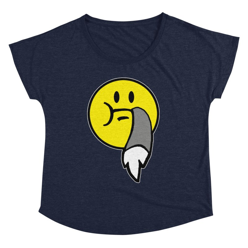 Mustache Ride Emoji Women's Scoop Neck by MostlySAFE Webcomic Shwag