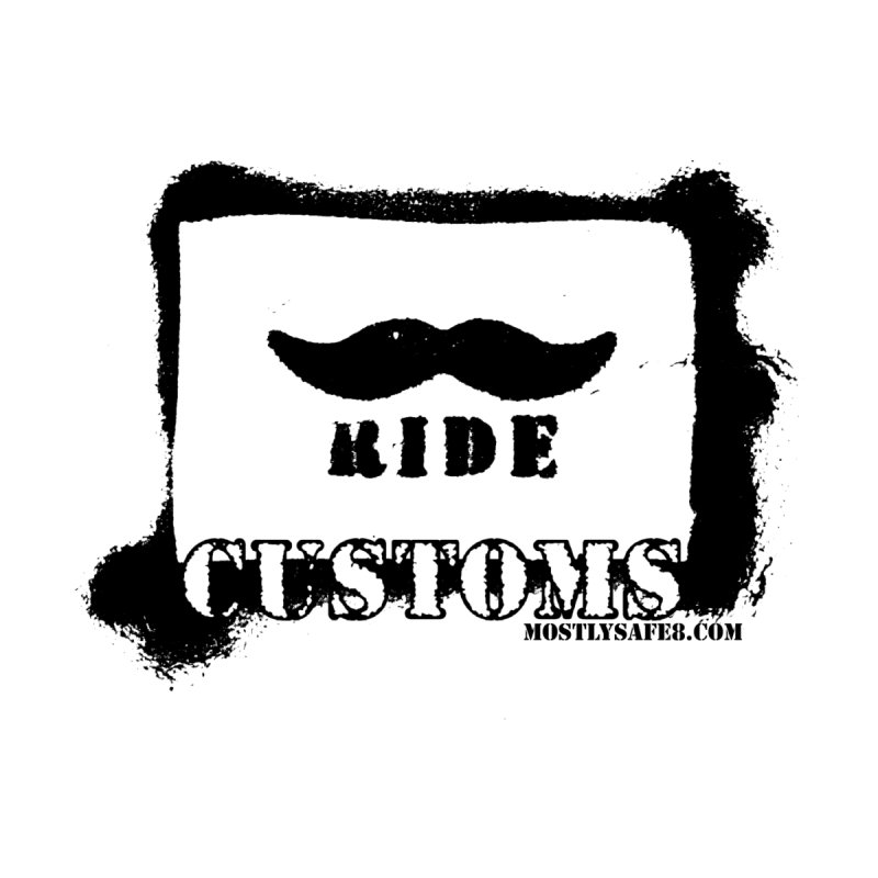 Mustache Ride Customs BLACK LOGO Men's V-Neck by MostlySAFE Webcomic Shwag