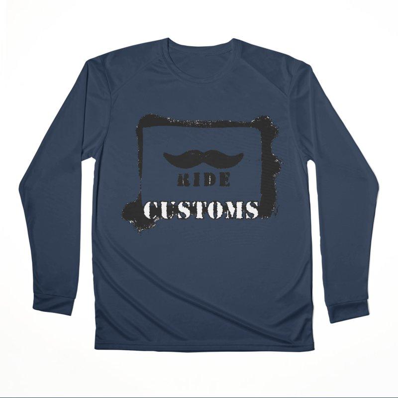 Mustache Ride Customs BLACK LOGO Women's Longsleeve T-Shirt by MostlySAFE Webcomic Shwag