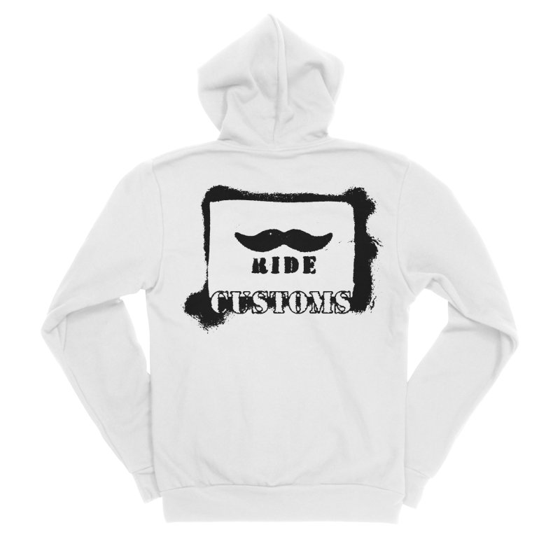 Mustache Ride Customs BLACK LOGO Women's Zip-Up Hoody by MostlySAFE Webcomic Shwag