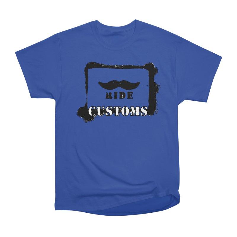 Mustache Ride Customs BLACK LOGO Men's T-Shirt by MostlySAFE Webcomic Shwag