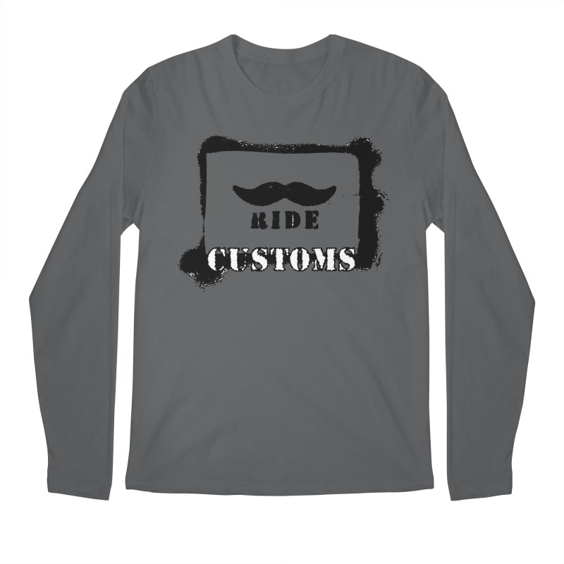 Mustache Ride Customs BLACK LOGO Men's Longsleeve T-Shirt by MostlySAFE Webcomic Shwag