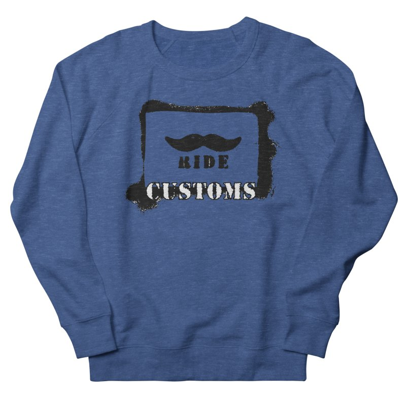 Mustache Ride Customs BLACK LOGO Men's Sweatshirt by MostlySAFE Webcomic Shwag
