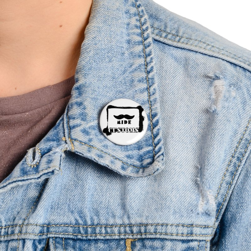 Mustache Ride Customs BLACK LOGO Accessories Button by MostlySAFE Webcomic Shwag