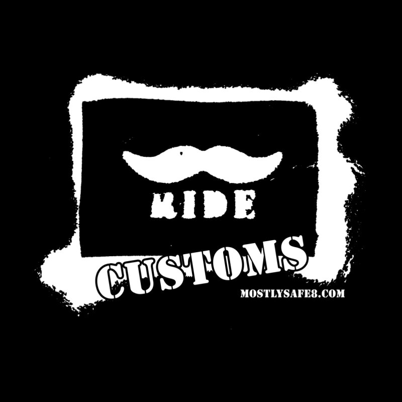 Mustache Ride Customs WHITE LOGO Men's Zip-Up Hoody by MostlySAFE Webcomic Shwag