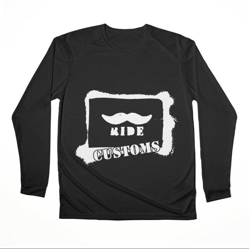 Mustache Ride Customs WHITE LOGO Women's Longsleeve T-Shirt by MostlySAFE Webcomic Shwag
