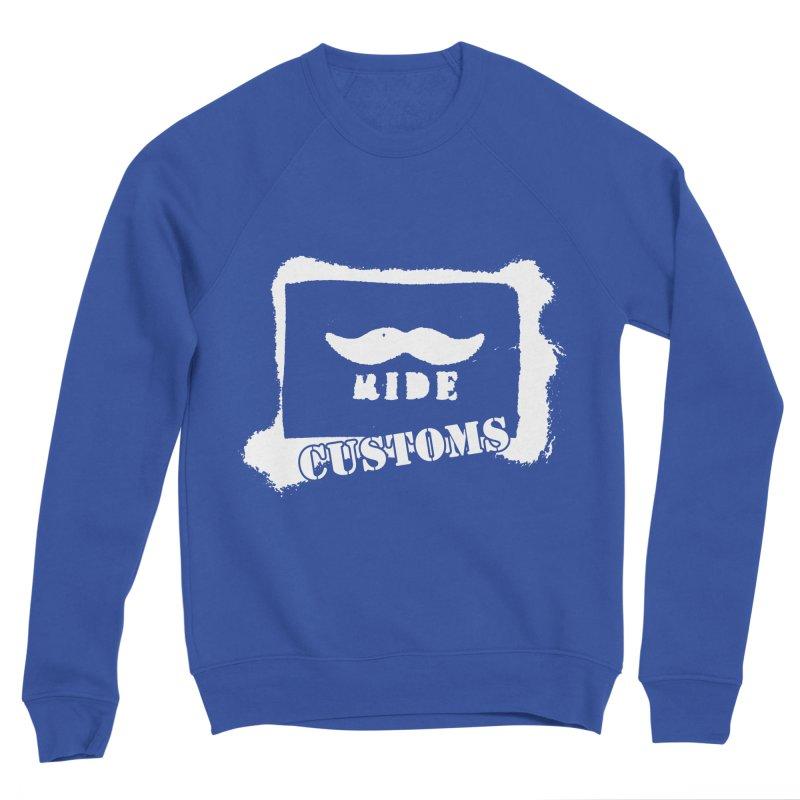 Mustache Ride Customs WHITE LOGO Men's Sweatshirt by MostlySAFE Webcomic Shwag