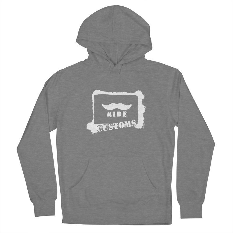 Mustache Ride Customs WHITE LOGO Women's Pullover Hoody by MostlySAFE Webcomic Shwag