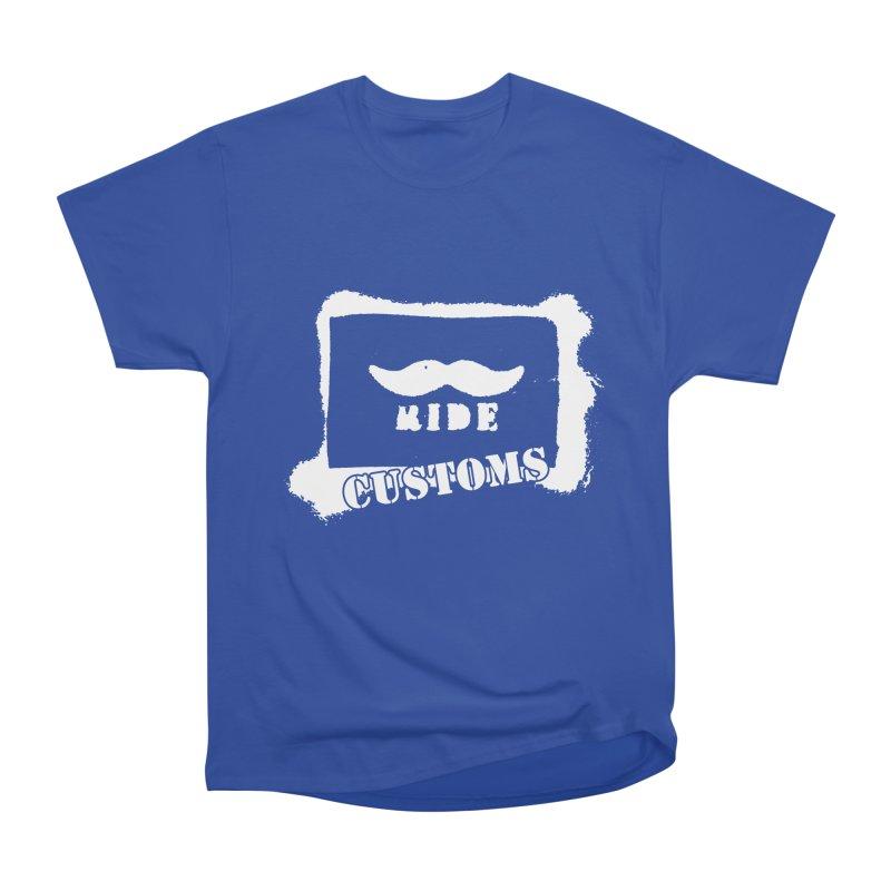 Mustache Ride Customs WHITE LOGO Women's T-Shirt by MostlySAFE Webcomic Shwag