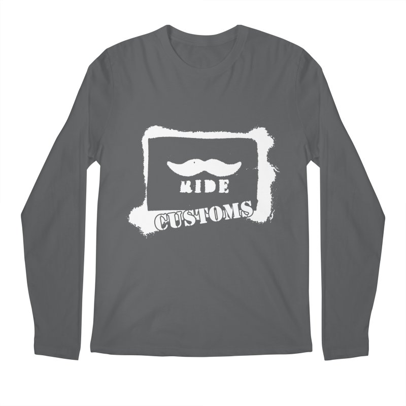 Mustache Ride Customs WHITE LOGO Men's Longsleeve T-Shirt by MostlySAFE Webcomic Shwag