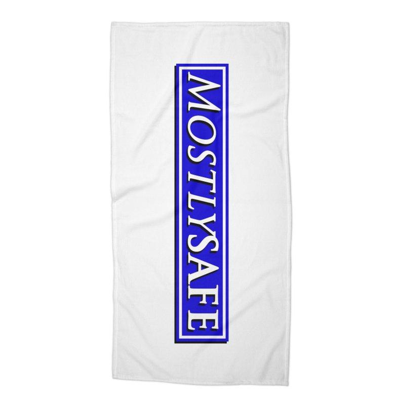 MostlySAFE Logo Accessories Beach Towel by MostlySAFE Webcomic Shwag