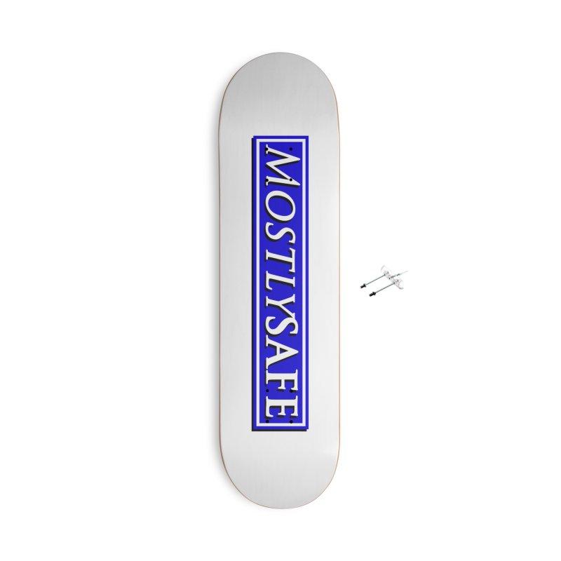 MostlySAFE Logo Accessories With Hanging Hardware Skateboard by MostlySAFE Webcomic Shwag