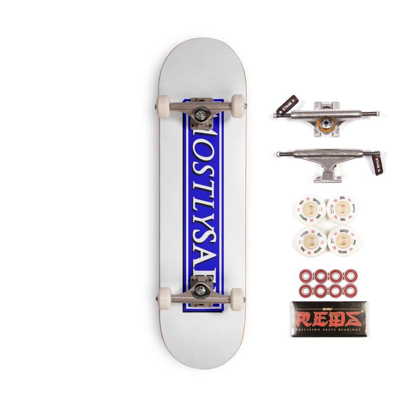 MostlySAFE Logo Accessories Skateboard by MostlySAFE Webcomic Shwag