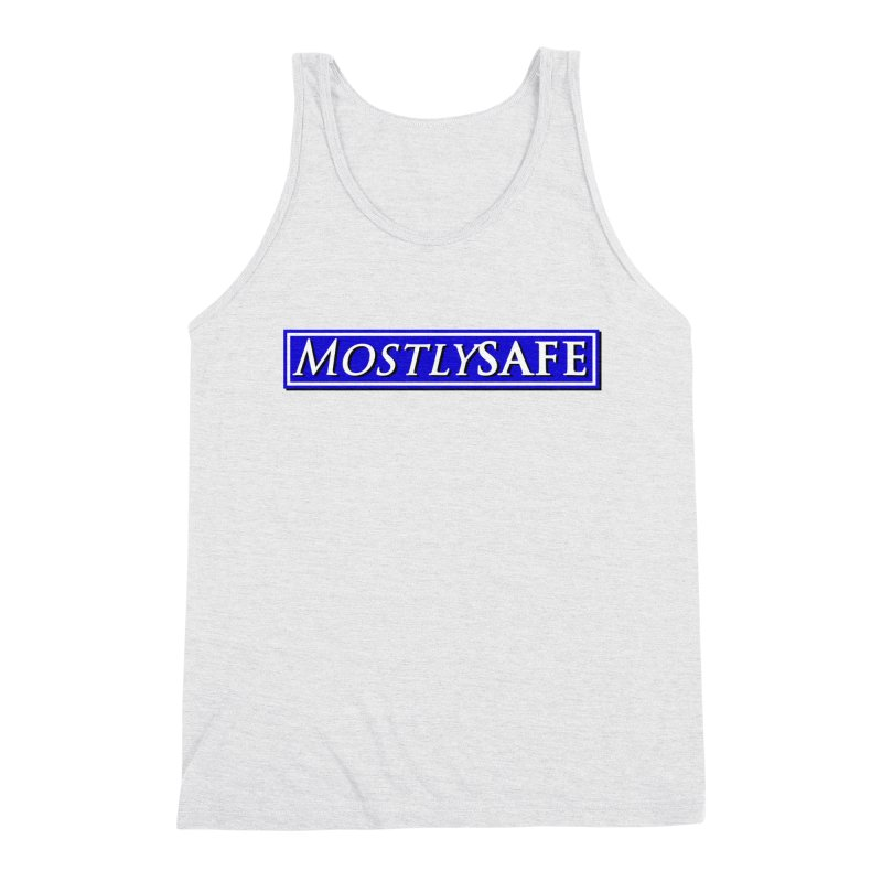 MostlySAFE Logo Men's Triblend Tank by MostlySAFE Webcomic Shwag