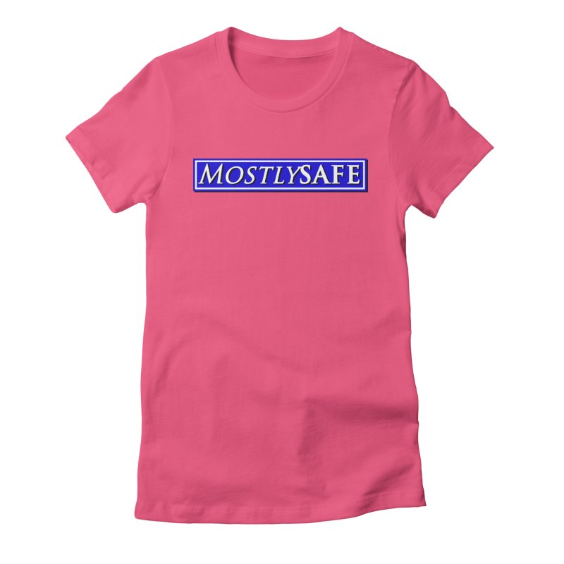 MostlySAFE Logo Women's Fitted T-Shirt by MostlySAFE Webcomic Shwag
