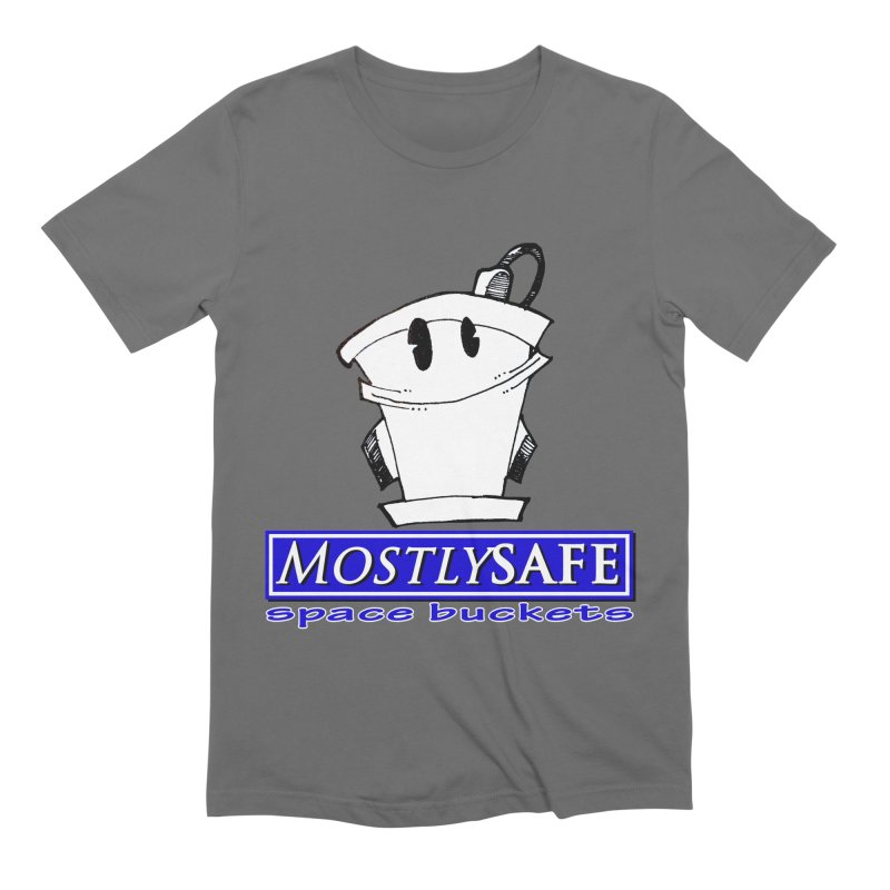 MostlySAFE Space Buckets Men's Extra Soft T-Shirt by MostlySAFE Webcomic Shwag